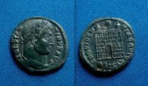 Ancient Coins - Constantine I AE Follis. Siscia, campgate