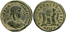 Ancient Coins - Constantine II, AE3, 319-320, Siscia, Officina 1 - RIC VII, 99