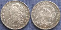 United States of America, Dime, Capped Bust, 1829, Philadelphia Mint - Mintage: 770,000