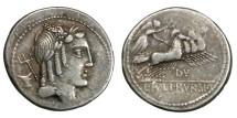 Ancient Coins - Roman Republican, L. Julius Bursio, AR Denarius, 85 BC, Rome - Julia 5b; Crawford 352/1c; Sydenham 728d