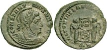 Ancient Coins - Constantine I, AE3, 320, London - RIC VII, 171