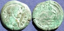 Ancient Coins -  Roman Provincial, Egypt-Alexandria, Hadrian, AE Drachm, 123/124 (Year 8) - Emmett 1063