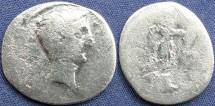 Ancient Coins - Augustus (Octavian), AR Denarius, 29-27 BC, Group II, Italy, Uncertain Mints (Brundisium and Rome?) - RIC I, 265a