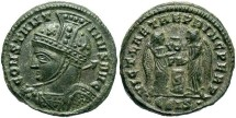 Ancient Coins - Constantine I, AE3, 319, Siscia, Officina 5 - RIC VII, 84