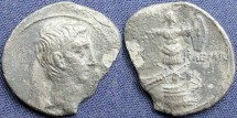 Ancient Coins - Augustus (Octavian), AR Denarius, 29-27 BC, Group II, Italy, Uncertain Mints (Brundisium and Rome?) - RIC I, 265a