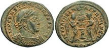 Ancient Coins - Constantine I, AE3, 319, Siscia, Officina 5 - RIC VII, 73 (Unattested officina)