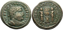 Ancient Coins - Constantine I, AE3, 318-319, Siscia, Officina 3 - RIC VII, 53 (pellet on helmet)