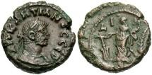 Ancient Coins - Diocletian, AE Tetradrachm, 293/294 (Year 10), Egypt-Alexandria, Officina 1 - Emmett 4082; Curtis --; Milne 5144 variant; BMC 2526 variant (Ex Keith Emmett Collection)