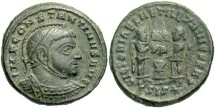 Ancient Coins - Constantine I, AE3, 318, Siscia, Officina 3 - RIC VII, 48