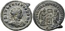 Ancient Coins - Crispus, AE3, 319, Ticinum, Officina 2 - RIC VII, 93