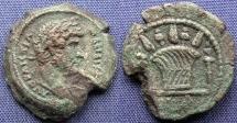 Ancient Coins -  Roman Provincial, Egypt-Alexandria, Hadrian, AE Obol, 136/137 (Year 21) - Emmett 1166
