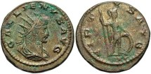 Ancient Coins - Gallienus, Silvered Antoninianus, 267, Sole Reign, Asia (RIC) Antioch (Göbl) - RIC V, Part I, 612; Göbl 1666i