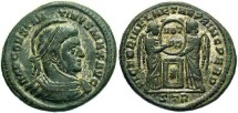 Ancient Coins - Constantine I, AE3, 319, Trier, Officina 2 - RIC VII, 213