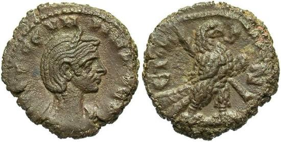 Ancient Coins - Severina, AE Tetradrachm, 275 (Year 7), Egypt-Alexandria - Emmett 3965; Milne 4480; Curtis --; BMC 2383 (Ex Keith Emmett Collection)