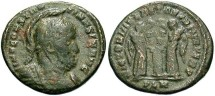 Ancient Coins - Constantine I, AE3, 319, London - RIC VII, 155 (Unattested legend break)