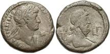 Ancient Coins - Hadrian, AR Tetradrachm, 118/119 (Year 3), Egypt-Alexandria - Emmett 875; Milne 896 variant; Curtis --; BMC -- (Ex Keith Emmett Collection)