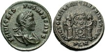Ancient Coins - Crispus, AE3, 320, London - RIC VII, 174