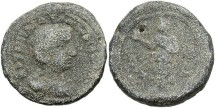 Ancient Coins - Salonina, Lead Tetradrachm (Contemporary Forgery), 264/265 (Year 12), Egypt-Alexandria - Emmett 4286, otherwise unpublished