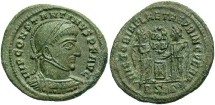Ancient Coins - Constantine I, AE3, 318, Siscia, Officina 2 - RIC VII, 47