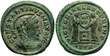 Ancient Coins - Constantine I, AE3, 319, Trier, Officina 1 - RIC VII, 226
