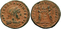 Ancient Coins - Constantine I, AE3, 319, Arles, Officina 3 - RIC VII, 185