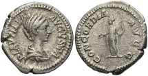 Ancient Coins - Plautilla, AR Denarius, 202-205, Issue II, Rome - RIC IV, Part I, 363a (Caracalla) (Ex Keith Emmett Collection)