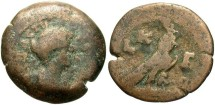 Ancient Coins - Faustina II, AE Obol, 159/160 (Year 23), Egypt-Alexandria - Emmett 2033, otherwise unpublished (Ex Keith Emmett Collection)