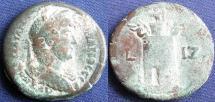 Ancient Coins -  Roman Provincial, Egypt-Alexandria, Hadrian, AE Hemidrachm, 132/133 (Year 17) -  Emmett 1103; Dattari 3025 var (date) (Ex Stack's, 1955)