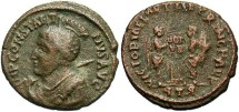 """Ancient Coins - """"Constantine I"""", AE3, Trier Imitative Type of RIC VII, 208a, Officina 1"""