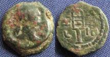 Ancient Coins - Roman Provincial, Egypt-Alexandria, Trajan, AE Dichalkon, 109/110 (Year 13) - Emmett 720; Dattari 1114