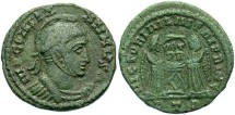 """Ancient Coins - """"Constantine I"""", AE3, VLPP Imitative Type, """"Trier"""" Mint, Officina 1 (reverse legend footnote in RIC)"""
