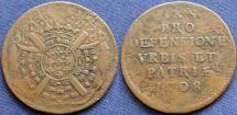World Coins - French Siege Coinage-Lille, 1708, 20 Sols - KM 7