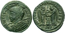 Ancient Coins - Constantine I, AE3, 319, Siscia, Officina 2 - RIC VII, 61