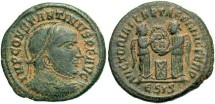 Ancient Coins - Constantine I, AE3, 318-319, Siscia, Officina 5 - RIC VII, 53