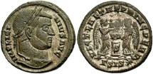 Ancient Coins - Licinius I, AE3, 319-320, Siscia, Officina 3 - RIC VII, 96