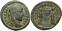Ancient Coins - Roman Imperial, Constantine I, AE3, 319-320, Arles, Officina 1 - RIC VII, --
