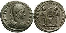 Ancient Coins - Constantine I, AE3, 319, Siscia, Officina 4 - RIC VII, 59