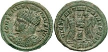 Ancient Coins - Constantine I, AE3, 319-320, Siscia, Officina 4 - RIC VII, 95