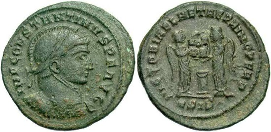 Ancient Coins - Constantine I, AE3, 319, Siscia, Officina 5 - RIC VII, 59