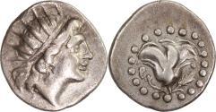 Ancient Coins - Islands off Caria, Rhodes. c. 185-150 BC. AR diobol.