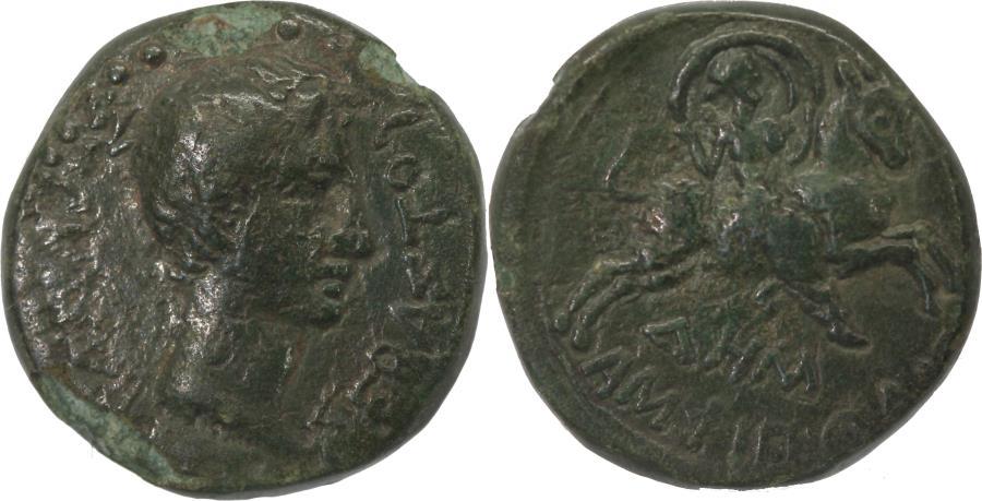 Ancient Coins - Roman Provincial, Macedonia, Amphipolis; Augustus, AE22 c. 27 BC - 14 AD