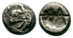Ancient Coins - Ionia, Phokaia, AR obol, c. 521 - 478 BCE. Griffin