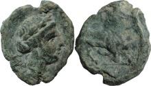 Ancient Coins - Gaul, Massalia. C. 149-40 BC. AE 14