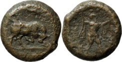 Ancient Coins - Lucania, Poseidonia. C. 350-280 BC. AE 17mm