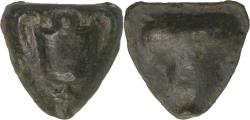 Ancient Coins - Sicily, Selinos, c. 440-420 BC. AE cast onkia with nice pedigree