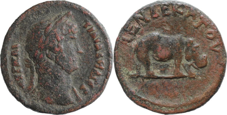 Ancient Coins - Egypt, Alexandria, Emperor Hadrian (117-138). AE