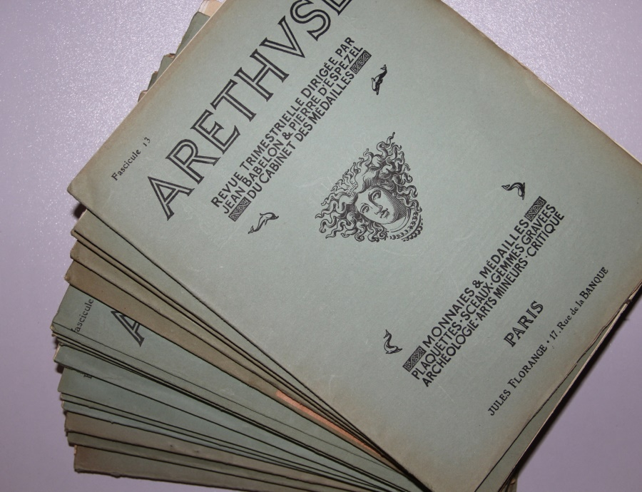 Ancient Coins - Arethuse journal - Lot of 15 issues from 1923 to 1927