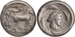 Ancient Coins - Sicily, Syracuse, c. 475-470 BC, struck under Hieron I - AR, tetradrachm