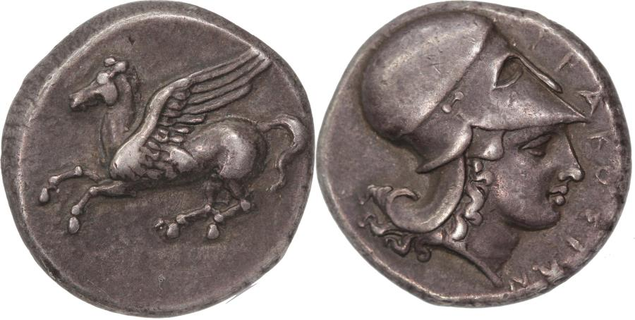 Ancient Coins - Sicily, Syracuse, time of Timoleon and 3rd democracy. C. 343-317 BC. AR stater.