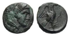 Ancient Coins - Bruttium, Kroton. AE 12 c. 350-300 BC. Very Rare